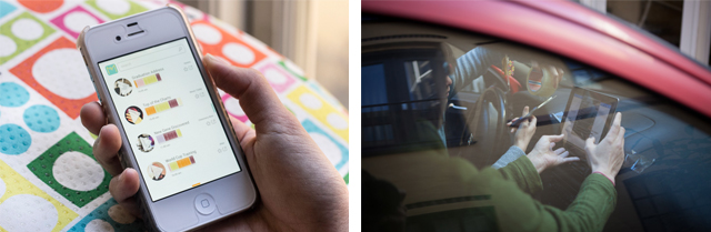 Prototypes: on a smartphone, and in a car